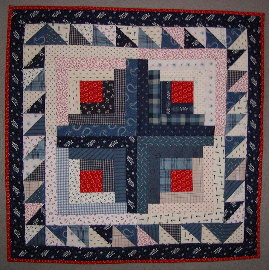 Free Log Cabin Crib Doll Quilt Pattern Instructions