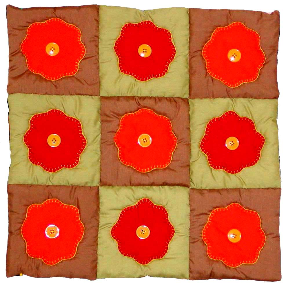 Free Pattern For Baby Puff Quilt : Full Version: Biscuit or Puff Doll Quilt