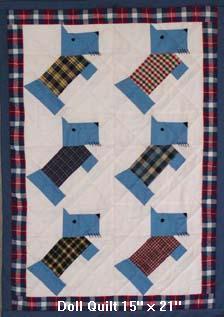 Free Scottie Dog Baby & Doll Quilt Pattern Instructions : doll quilt pattern instructions - Adamdwight.com