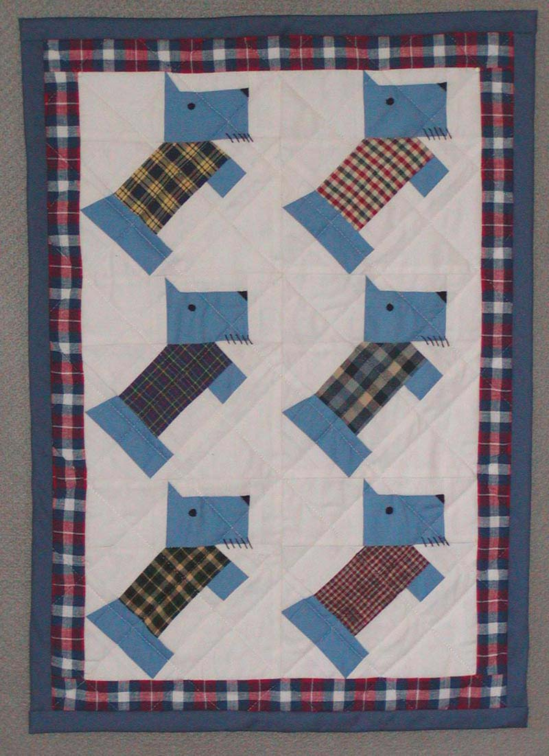 Quilt Pattern For Scottie Dog : Scotty Dog Pattern - Pattern Collections