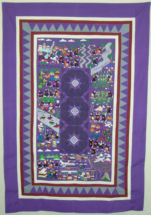 Hmong Needlework On Flowercloth Story Cloth And Clothing Interesting Hmong Pattern