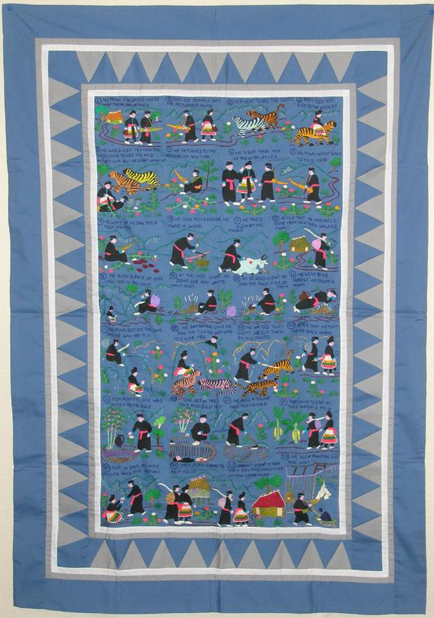 Hmong Needlework On Flowercloth Story Cloth And Clothing New Hmong Pattern