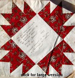 verse on a friendship quilt